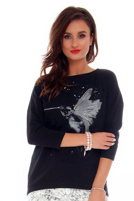 Bluzka damska koliber CMK712 czarna