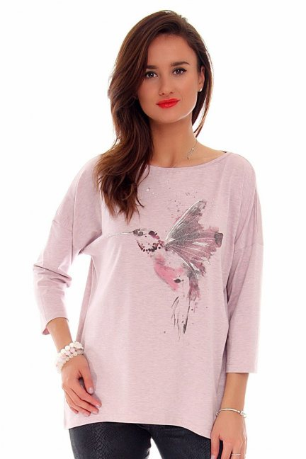 Bluzka damska koliber CMK712 różowa