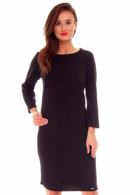 Sukienka wizytowa midi CMK711 czarna