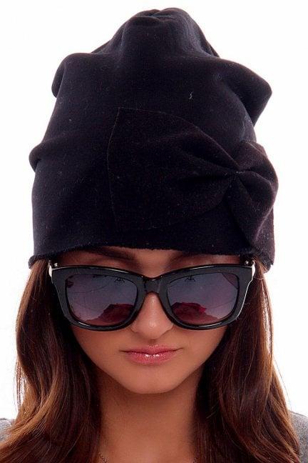 Czapka bawełna z kokardą CMC006 czarna