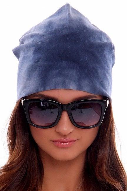 Czapka bawełna marmurek CMC010 niebieska