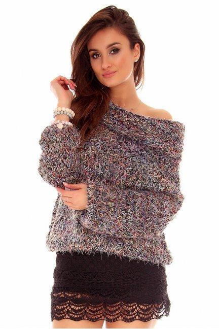 Sweter oversize golf CMK752 czarny