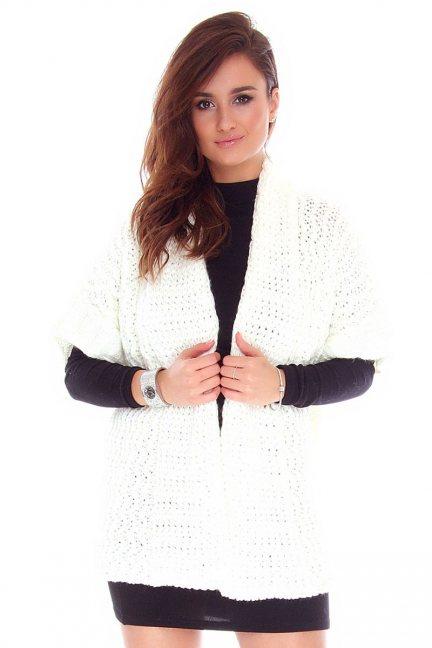 Narzutka damska sweter CMK2050 ecru