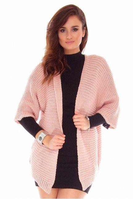 Kardigan sweter blezer CMK2029 różowy