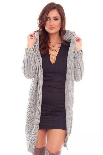 Sweter narzutka blezer CMK2016 szary