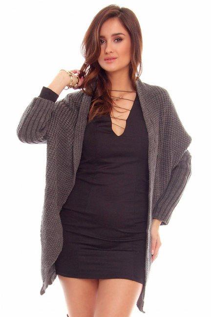 Sweter narzutka blezer CMK2016 grafitowy