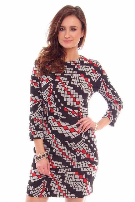 Sukienka ciepła dzianinowa CMK790 szara