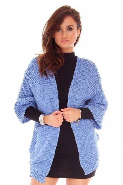 Kardigan sweter blezer CMK2029 niebieski