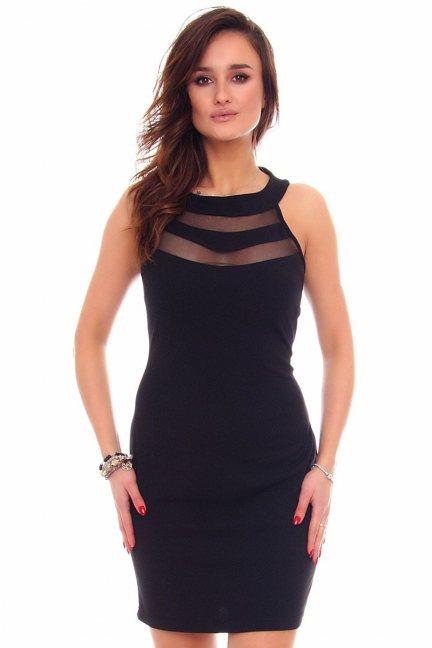 Sukienka ołówkowa mini CM528 czarna