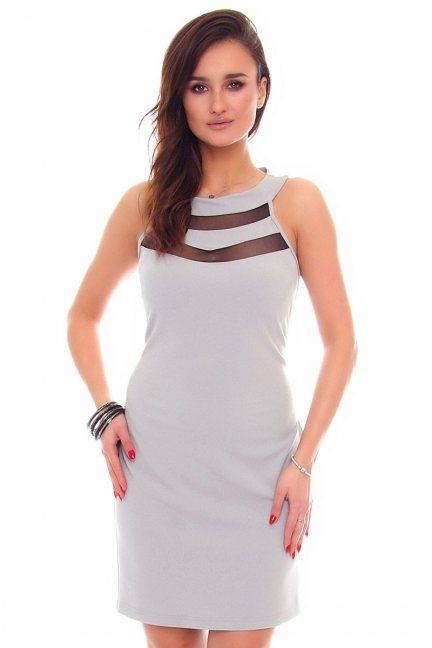 Sukienka ołówkowa mini CM582 szara