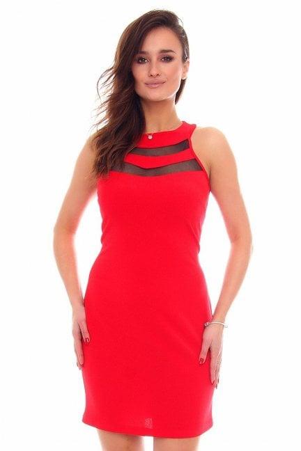Sukienka ołówkowa mini CM528 czerwona