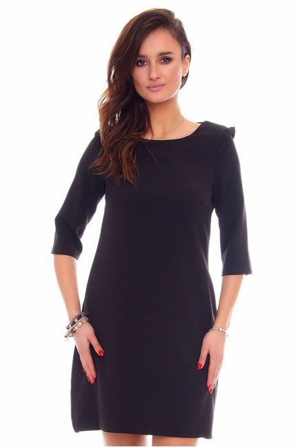 Sukienka elegancka tuba CMK872 czarna