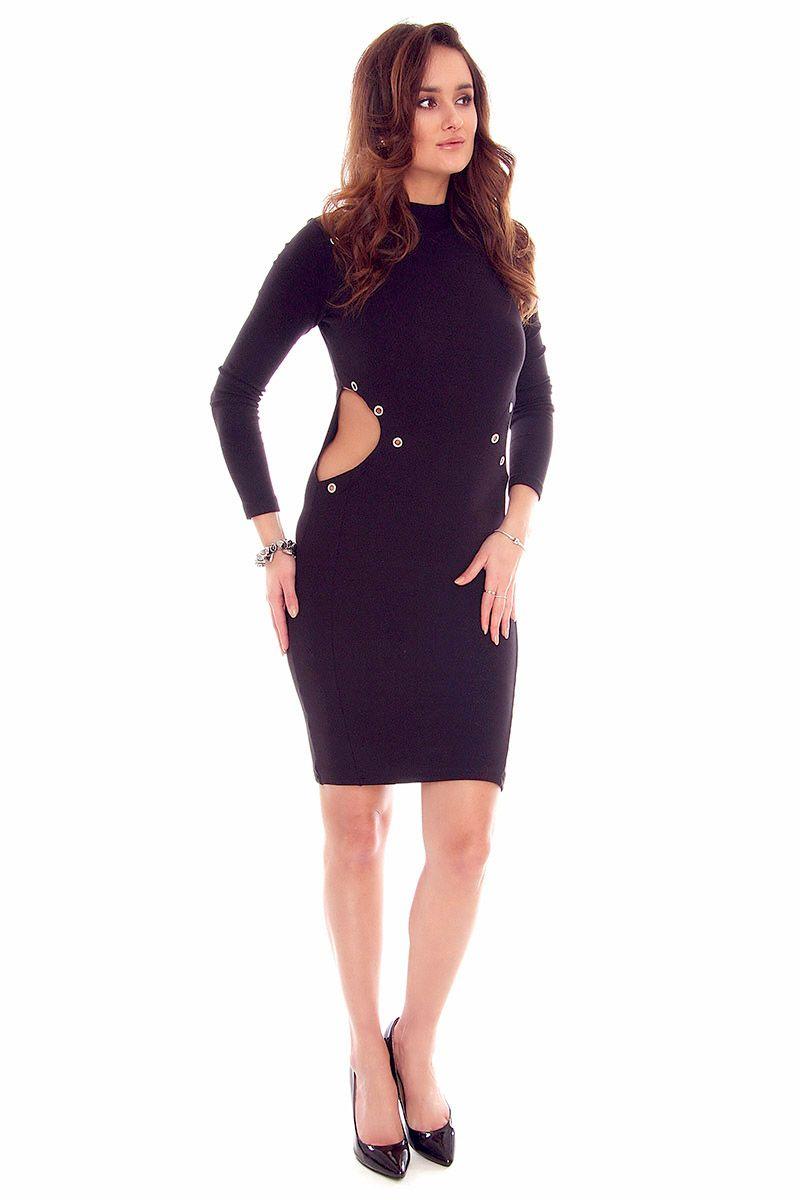 81844a3ff1 Sukienka wycięte boki CMK815 czarna  Sukienka damska modna  Sukienka  elegancka czarna  Sukienka damska czarna online  Modne sukienki wizytowe ...