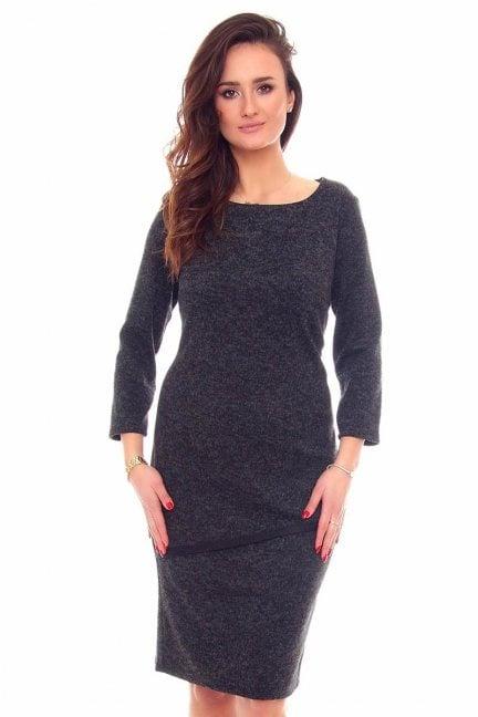 Sukienka ołówkowa midi CMK888 grafitowa