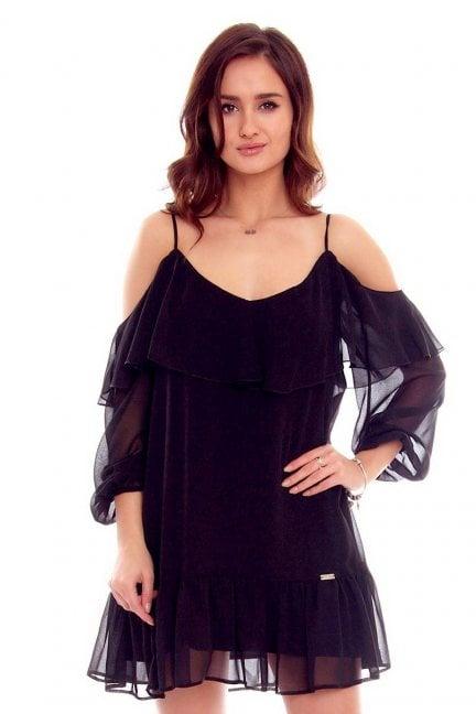 Sukienka hiszpanka falbanki czarna