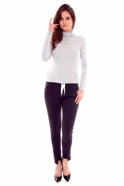 Spodnie dresowe pasek CMK793 czarne