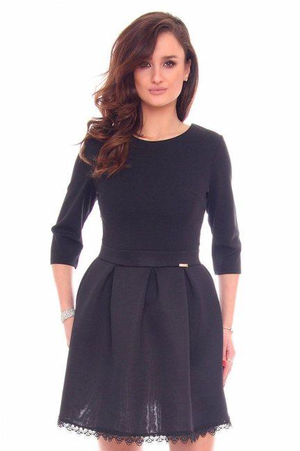 Sukienka wizytowa klosz CMK913 czarna