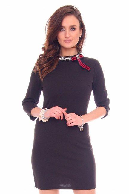 Sukienka z naszyjnikiem CMK914 czarna