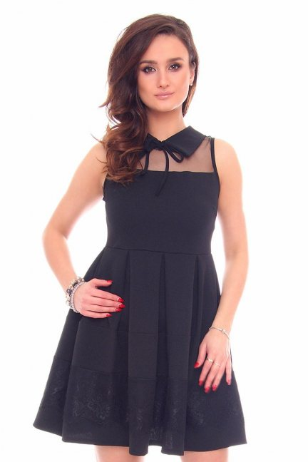 Sukienka rozkloszowana CMK915 czarna