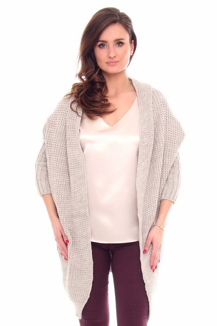 Sweter narzutka blezer CMK2016 beżowy