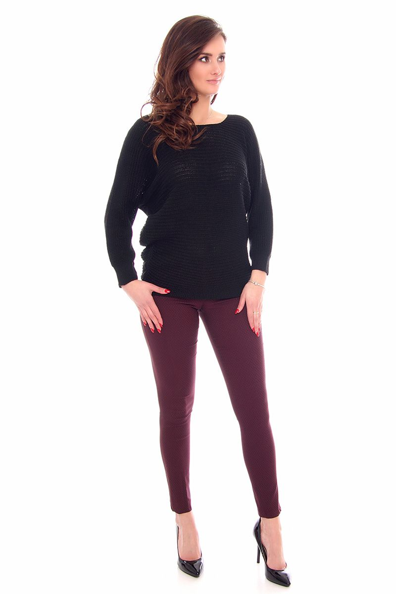 0019da8847439a ... Sweter oversize czarny; Modny sweter damski; Swetry damskie sklep  online CosmosModa