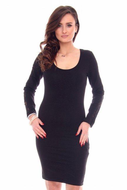 Sukienka dopasowana CMK926 czarna