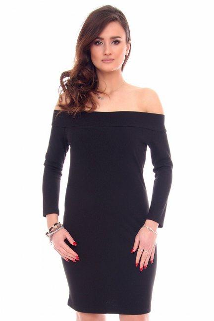 Sukienka odkryte ramiona CM531 czarna