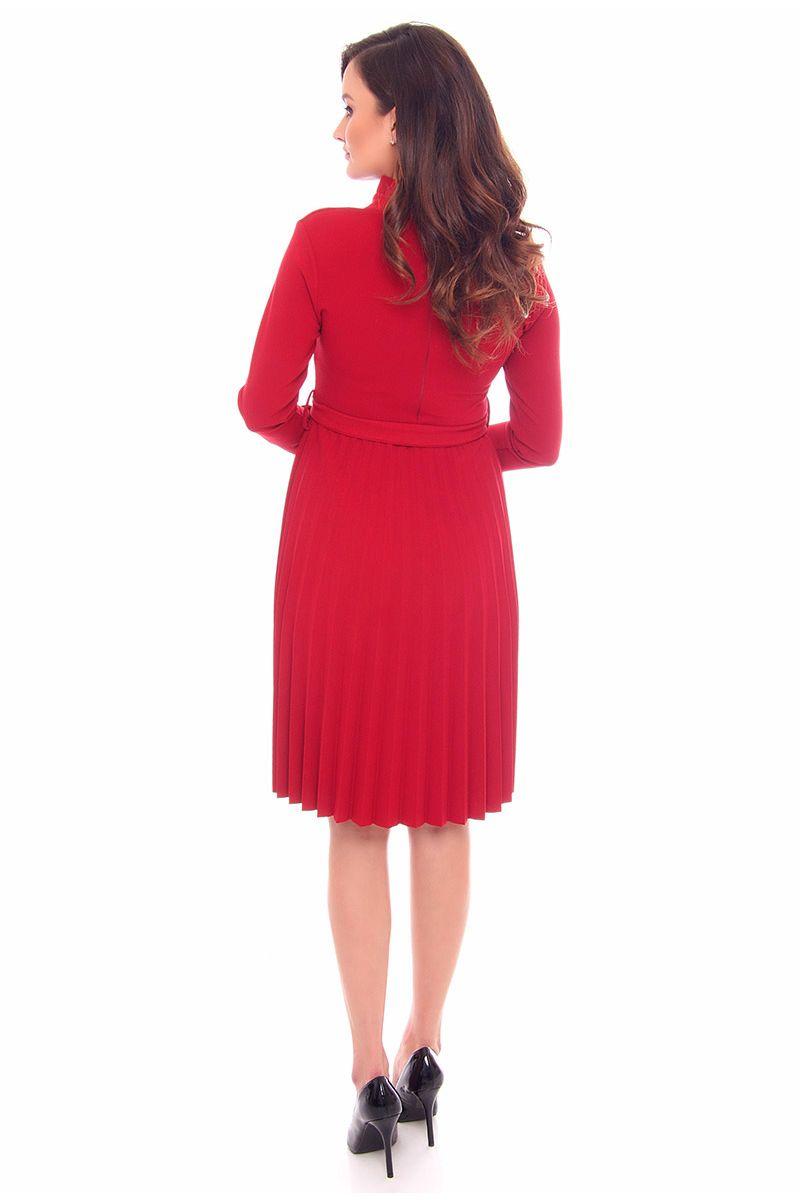 73871e8420 Sukienka plisowana midi CMK906 bordowa  Sukienka plisowana bordowa  Sukienka  midi bordowa  Sukienka z długim rękawem  Sukienki dopasowane sklep online  ...