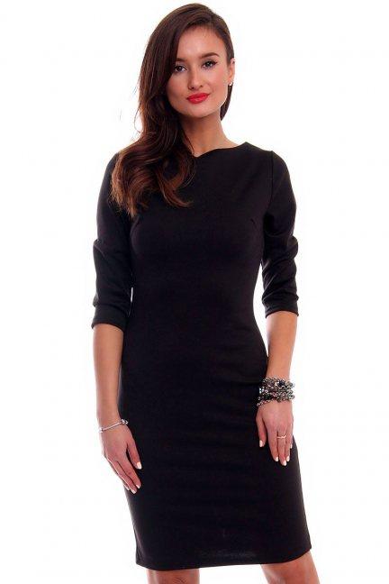 Sukienka ołówkowa midi CMK325 czarna