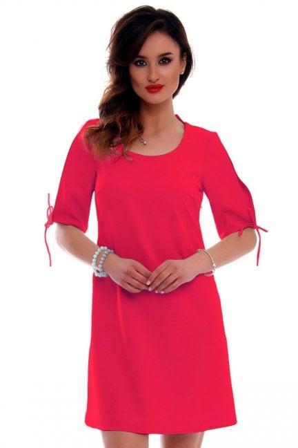 Sukienka trapezowa CMK521 fuksja