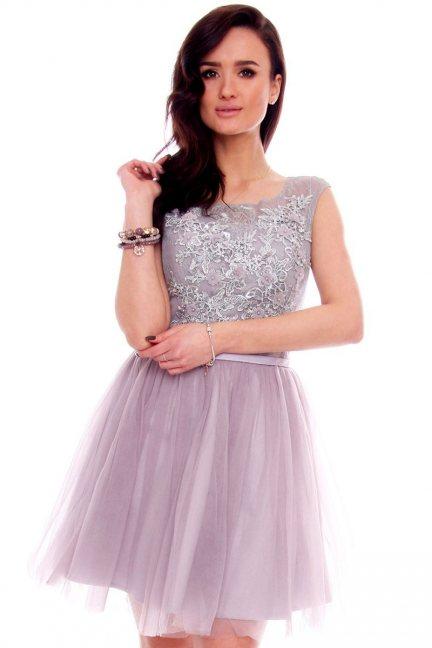 Sukienka tiulowa gorset CMW19 szara