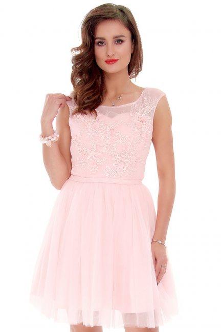 Sukienka tiulowa gorset CMW19 różowa