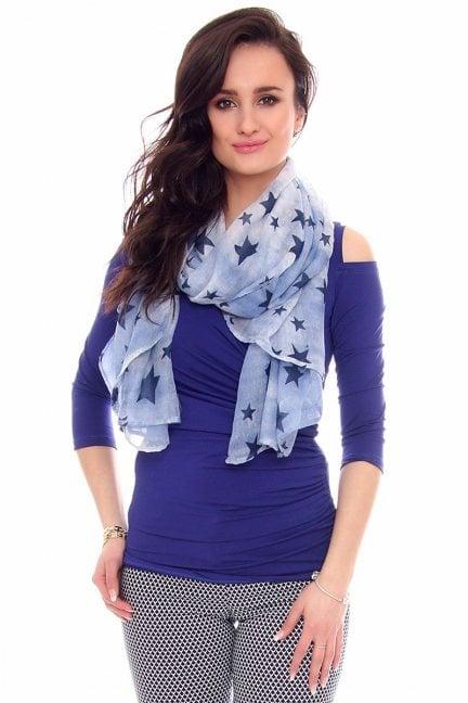 Chustka modna gwiazdki CMS67 niebieska