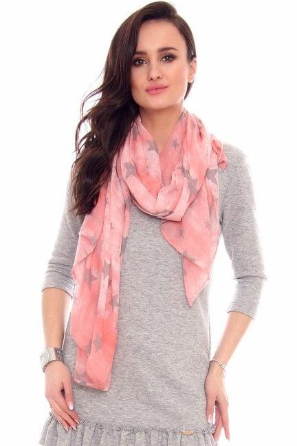 Chustka modna gwiazdki CMS67 różowa