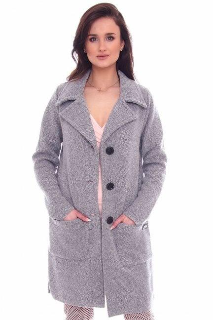 Narzutka modna kieszenie CMK953 szara