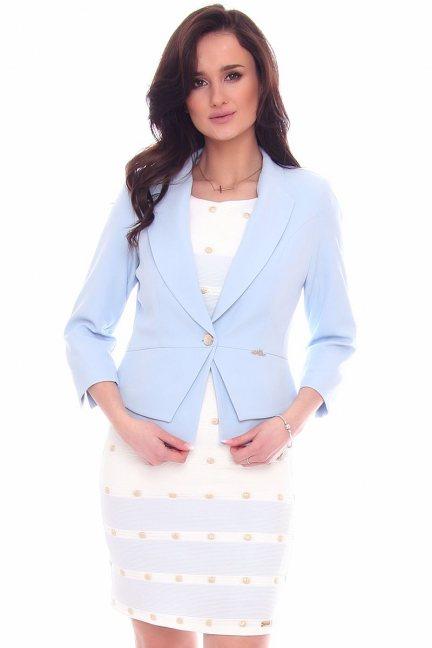 Żakiet modny krótki CMK966 niebieski