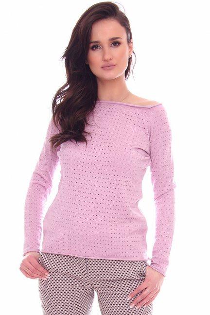 Sweter damski z dziurami CMK2072 fioletowy