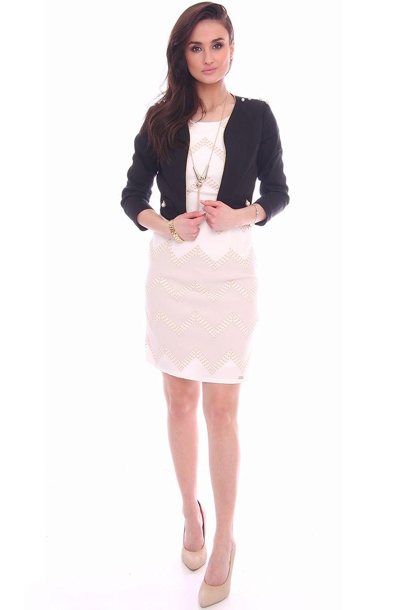 a4f749a60c ... Sukienka modna z żakietem  Modne sukienki wizytowe online w sklepie  CosmosModa