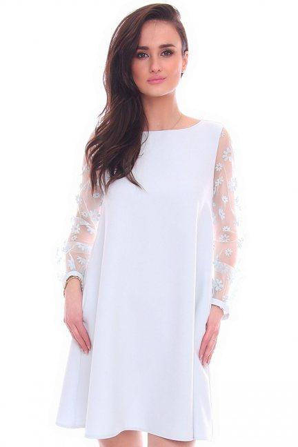 Sukienka tiulowe rękawy CMK989 miętowa