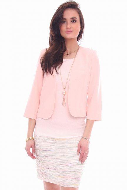 Żakiet elegancki chanelka CMK13 różowy