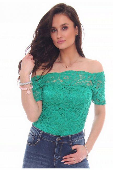 Body modne z koronki CMK26 zielone