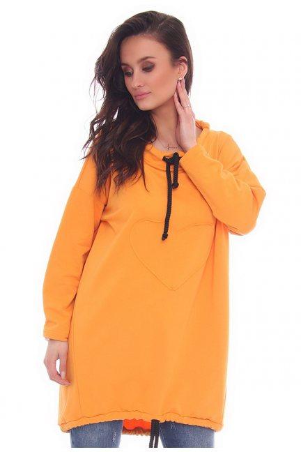 Bluza damska oversize CMK27 pomarańczowa