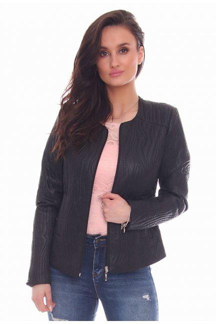 Żakiet modny kieszenie CMK30 czarny