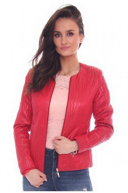 Żakiet modny kieszenie CMK30 czerwony