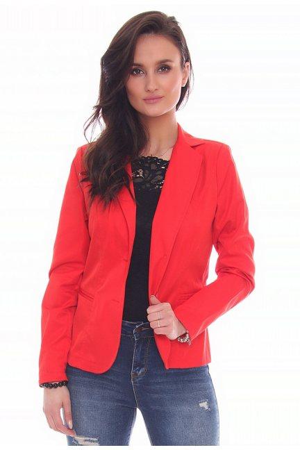 Żakiet elegancki damski CMK604 czerwony