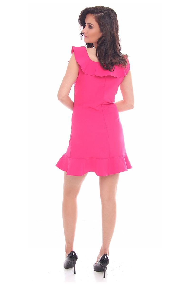 57533ae02e Sukienka falbanka hiszpanka CM464 fuksja Sukienki w sklepie CosmosModa