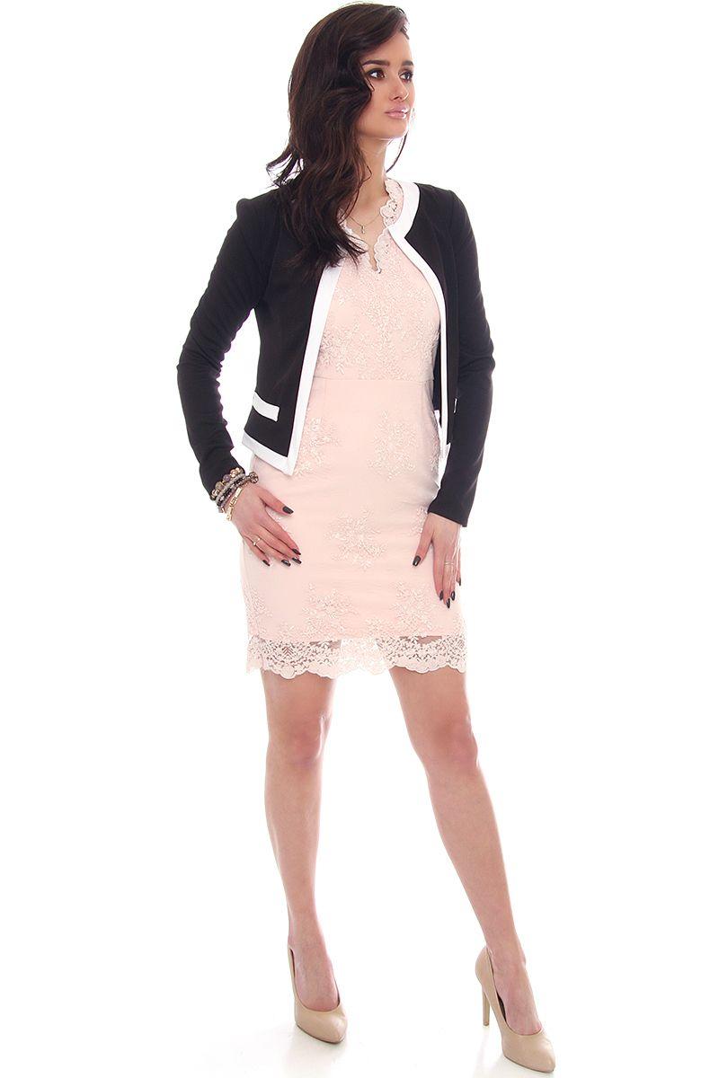 4d10ff23a155d ... Żakiet elegancki chanelka na sukienkę; Modne żakiety damskie sklep  online CosmosModa
