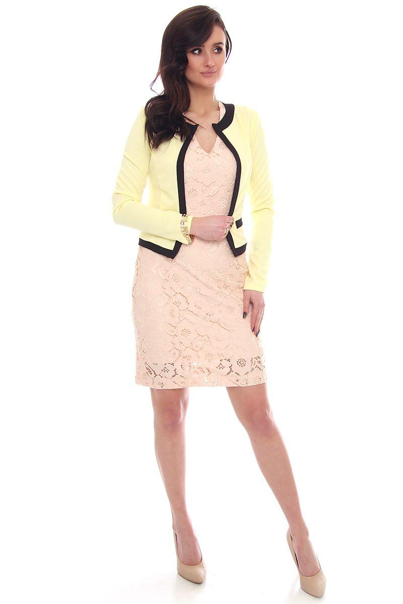 b4dd578a352de ... lamówką; Żakiet modny z długim rękawem; Modne żakiety damskie sklep  online CosmosModa