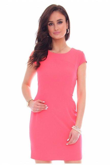 Sukienka ołówkowa mini CMK37 neonowy