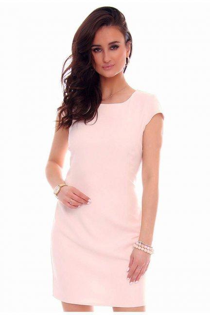 Sukienka ołówkowa mini CMK37 różowa